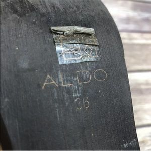 ALDO Brown Distressed Western Cowboy Ankle Boots